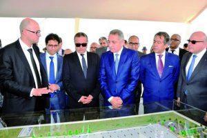 Pose de la première pierre de l'usine AGC Automotive Induver Morocco.
