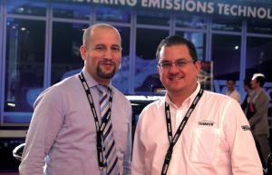 Mounir Ait Aissa, responsable Afrique Francophone et Georges-Henry Descos, Responsable marketing EMEA de Tenneco.