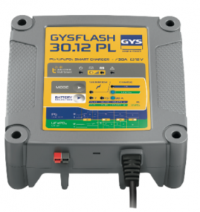 GYSFLASH 30.12 PL, le chargeur intelligent voué aux batteries plomb & lithium